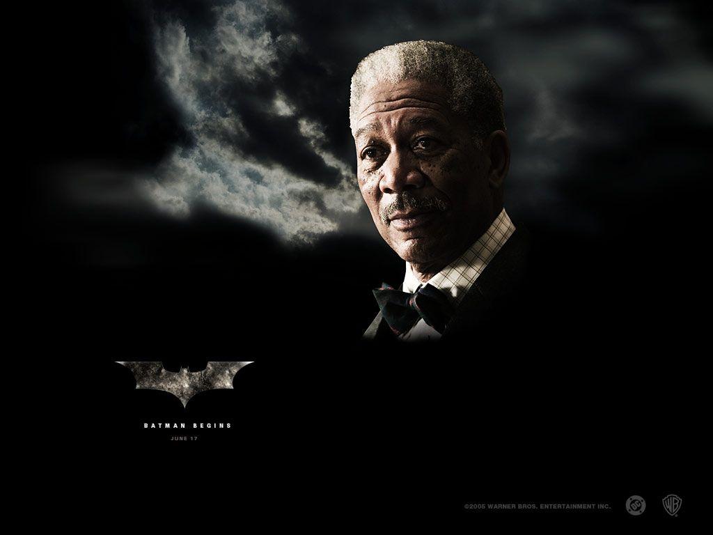 Morgan Freeman Lucius Fox Poster Wallpaper 1024x768