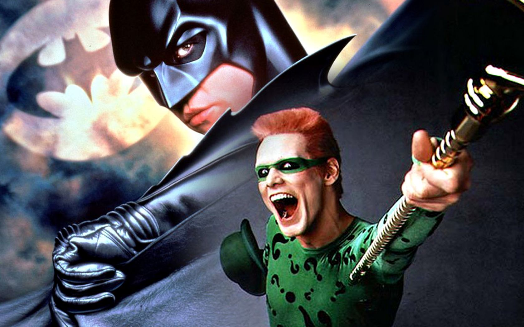 The Batman And The Riddler Wallpaper 1680x1050