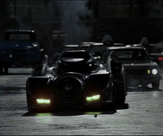 The Batmobile In The Streets Wallpaper