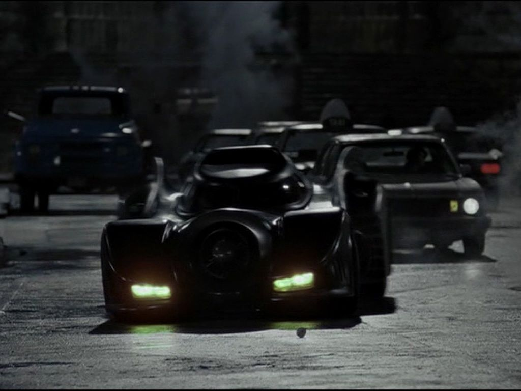 The Batmobile In The Streets Wallpaper 1024x768