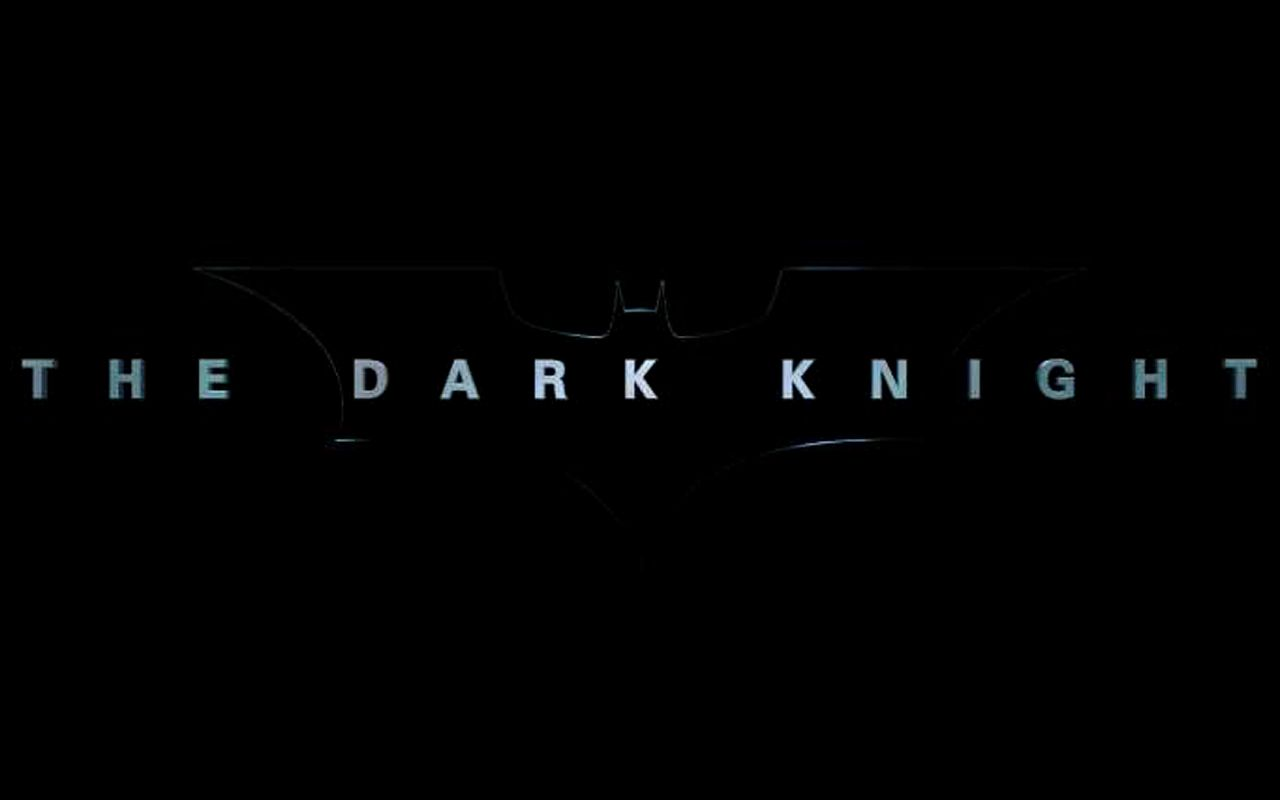 The Dark Knight Title Poster Wallpaper 1280x800