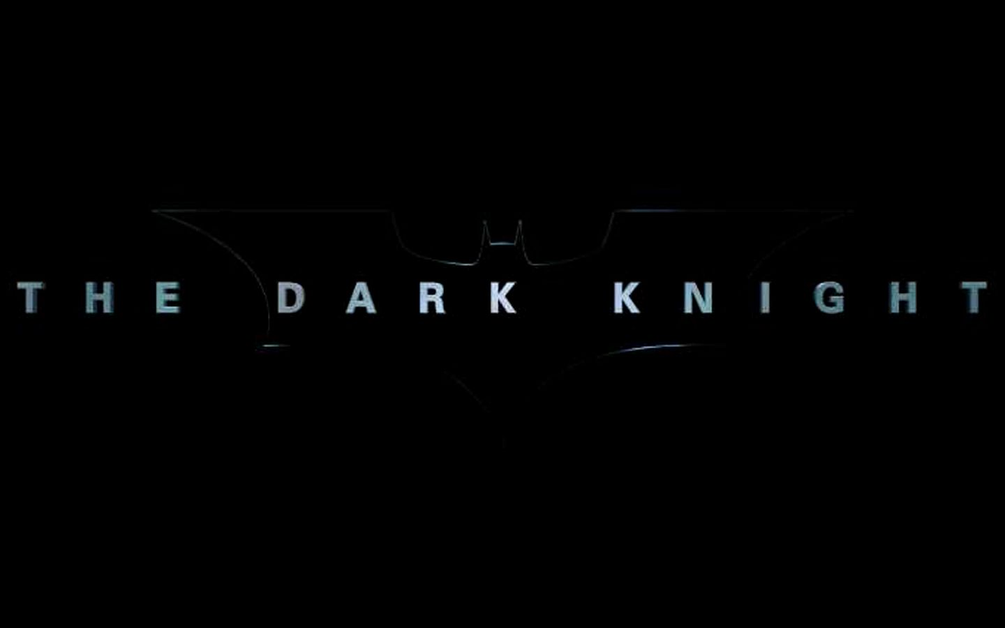The Dark Knight Title Poster Wallpaper 1440x900