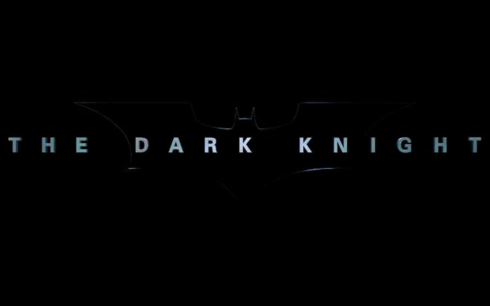 The Dark Knight Title Poster Wallpaper 1680x1050