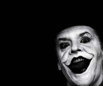 The Joker Face Portrait Wallpaper