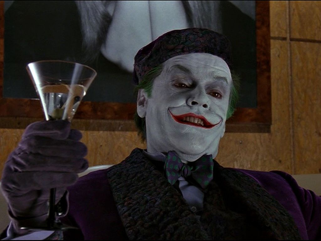The Joker Holding Glass Wallpaper 1024x768