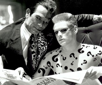 Two Face And Riddler Monochrome Wallpaper